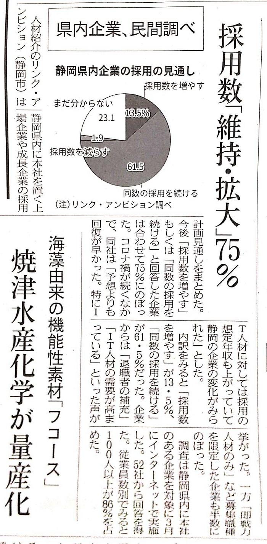 日経新聞2021年4月20日日刊)